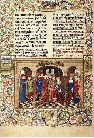 Sacraments-mariage de Girart et Berthe. Austria.1450
