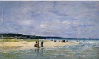 Boudin.Beach near Trouville.