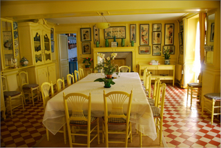 Monet's house-the yellow dining room 3