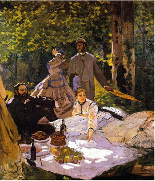 Monet.Dejeuner sur l'herbe.1866.