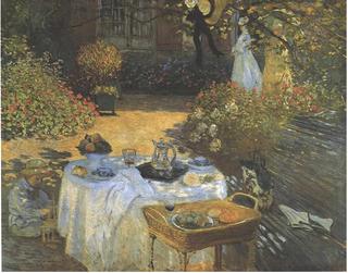 Monet-the Luncheon (Monet's garden at Argenteuil).1873.