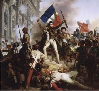 Jean-Victor Schnetz.Combat devant l'hôtel de ville.1830