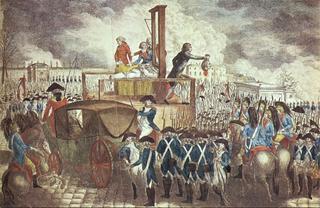 Execution of Louis XVI.1793.