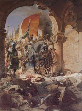 Benjamin Constant.Enrée de Mehmed II dans Constantinople.1876