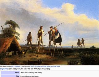 Habtants des Landes, c 1850