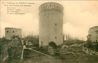 Donjon.Coucy.1220.demolished by Germans WW1