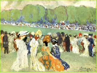 Picasso.Racetrack at Longchamps.1900.
