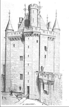 Donjon de Vez.c1400.restoration Viollet le duc
