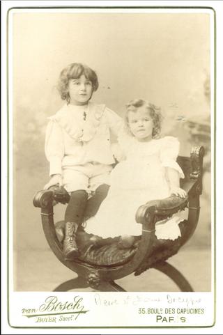 Dreyfus children.Pierre & Jeanne.c 1895.