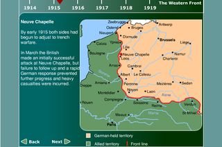 BBC.Front line in early 1915