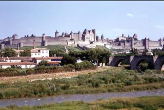 Grandpa's photo of Carcassonne, c 1961