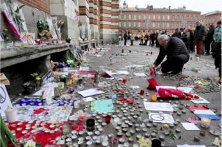 Toulouse.homage to victims of Paris attack.depeche du midi.XAVIER DE FENOYL