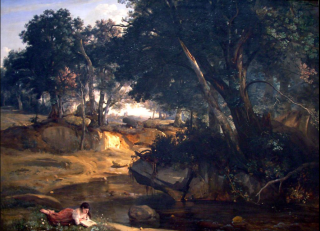 Corot.View of the Forest of Fontainebleau (1830)