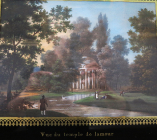 Chantilly  painting of the temple de lamour.