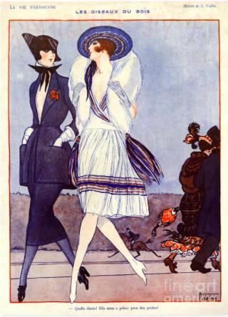 La Vie Parisienne. 1920s%22 What a turkey! She took us for hens!%22