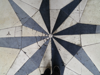 Vaux-le-Vicomte.The floor of the Grand Salon. Oct 2017