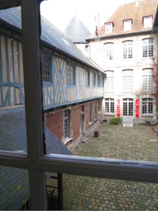 Dieppe.View of chateau interior courtyard.Oct 2017