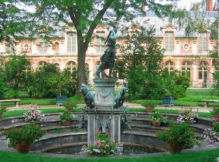 Fontainebleau.Statue of Diane in jardin de Diane.summer photo from Wikipedia