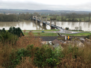 Langeais  France.1930s Bridge across the Loire