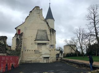 Chateau de Chinon.Ruined hall.Feb 20  2018