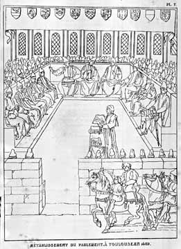 Les Annales.Retablissement du Parlement a Toulouse.1469