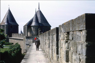 Grandpa's photos from Carcassonne, c 1961--ramparts
