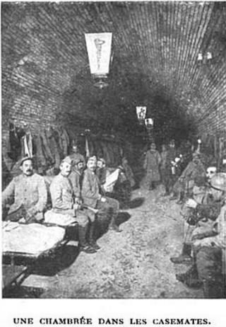 Verdun.Soldiers in their sleeping quarters.1916