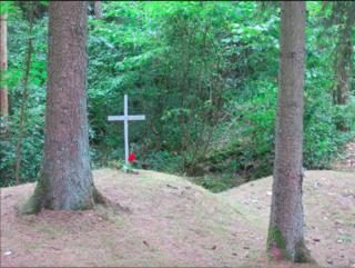 Verdun.Hill 304.Cross for Pialat Leon.