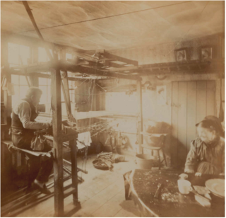 Silk weavers in spitalsfield,c1885