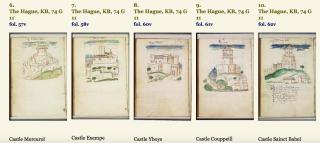Some of the castles of Anne de la Tour d'Auvergne  Countess of Auvergne
