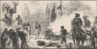 Protestants burnt at stake in front of Notre Dame in January  1535