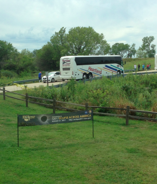 Arriving at Homestead by bus.