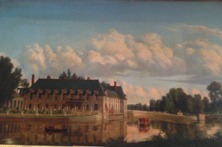Château de Chantilly  c 1845.The Grand Chateau is gone