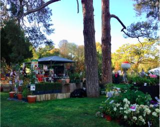 Chantilly.Journées des Plantes.booths.14 OCT 2017