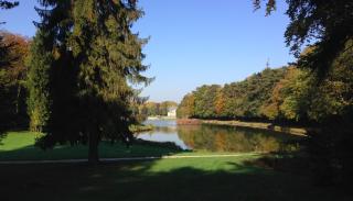 Chantilly.English landscape gardens near maison de Sylvie.15 Oct 2017