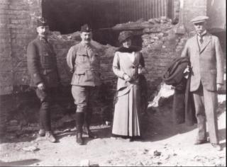 Edith Wharton at the front  1916