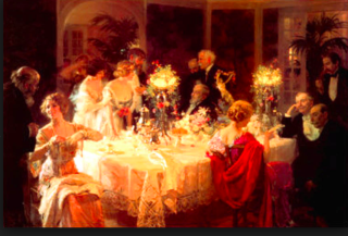 Jules Grun.The dinner party.1913