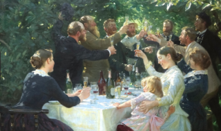 Party (1888) by Peder Severin Krøyer  (Danish  not French)