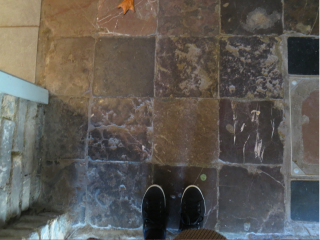 Dieppe.stone floor in chateau.Oct 6  2017