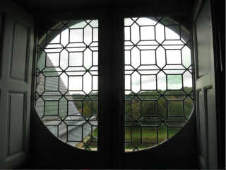 Vaux-le-Vicomte.window to garden.Oct 2017