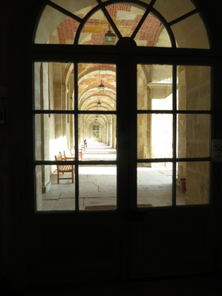 Fontainebleau.window to interior courtyard.Oct 2017