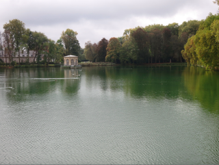 Fontainebleau.The pond in the English garden.OCT 2017