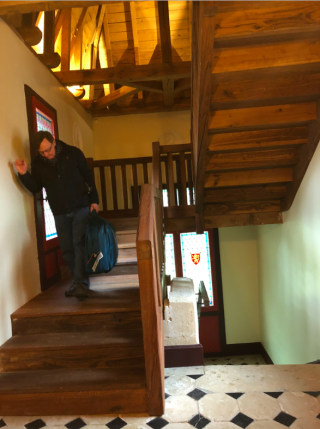 Manoir de la Touche.stairs from attic.19FEB2018
