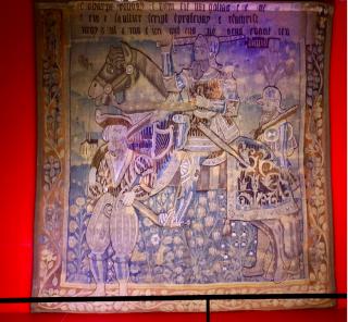 Chateau de Langeais.the worthies tapestries--King David.Feb 19