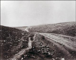 Roger Fenton.Valley of the Shadow of Death. Crimean War.1854