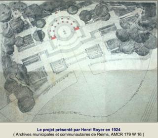 Reims-World War I monument.city archives.1924