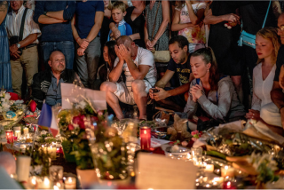 Mourning in Nice, France, after July 14 attack