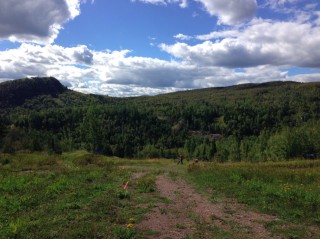 Superior100.the view as one starts the home stretch
