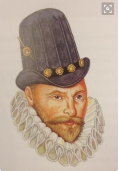Copotain.Capotain  Capatain--sugarloaf tall hat popular 1570s-1700.