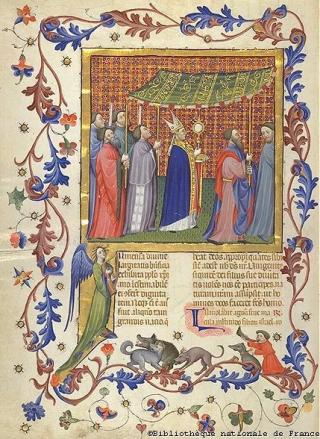 Feast of Corpus Christi  France  c 1450